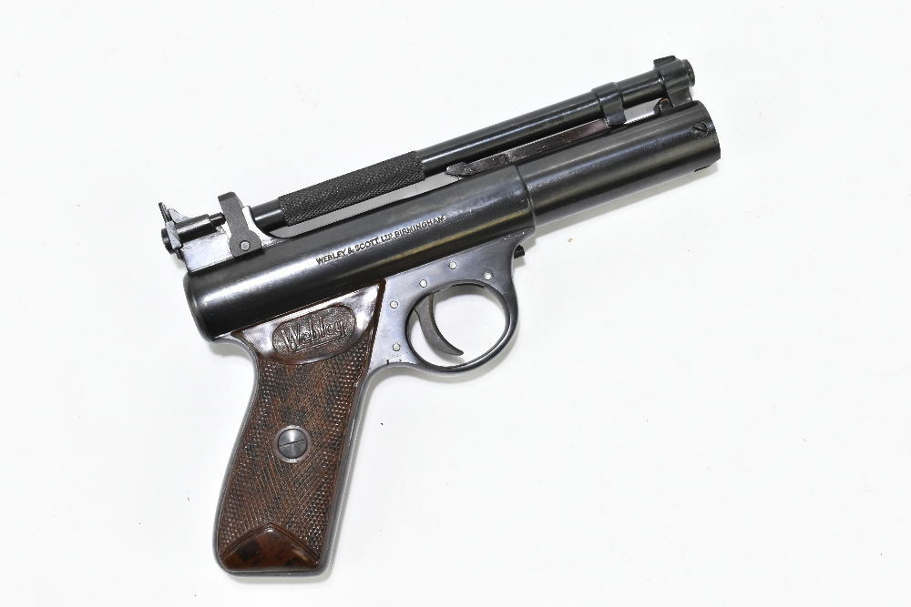 A boxed Webley Premier .22 air pistol with bakelite grips, length 21cm, SN:965. Provenance: The - Image 3 of 6