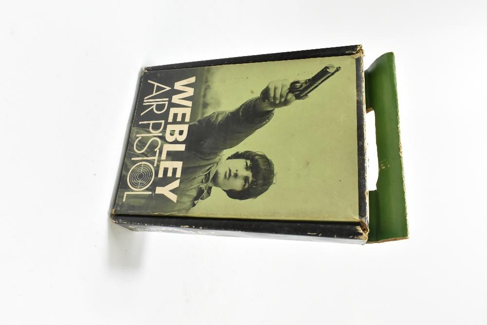 A boxed Webley .177 Junior Mk II air pistol, length 20cm, SN:743. Provenance: The Captain Allan - Image 6 of 9