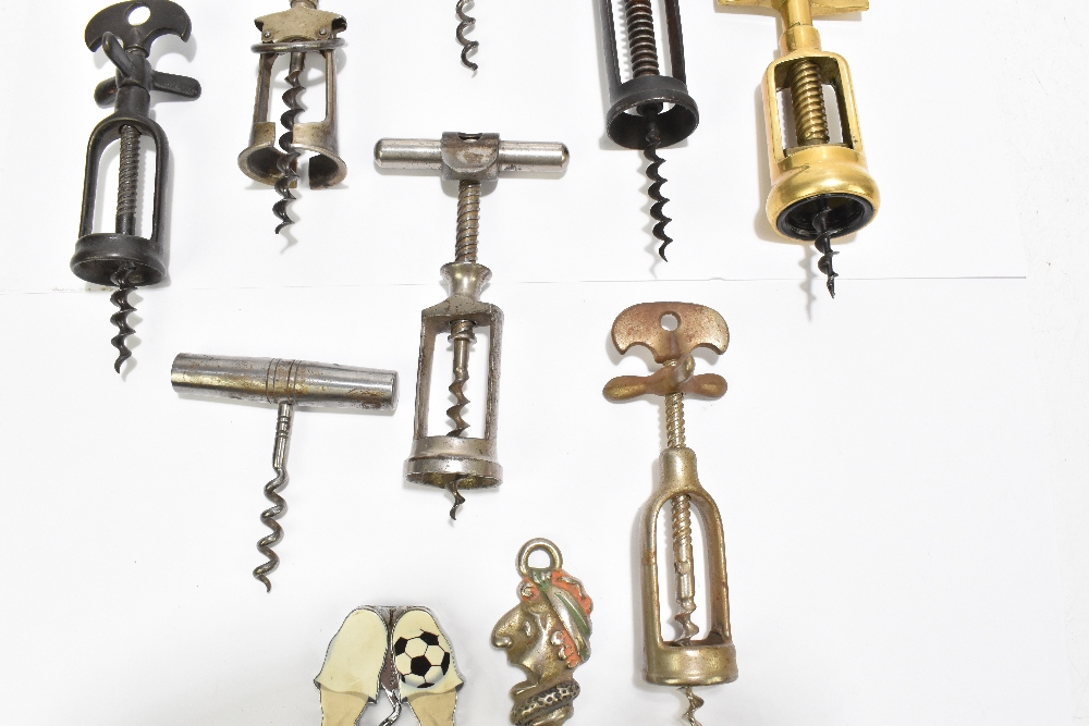 Ten corkscrews including Mister Punch, brass and three wooden handled examples (10).Additional - Image 3 of 5