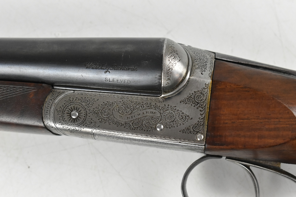 """W. RICHARDS; a 12 bore side-by-side boxlock double trigger non-ejector shotgun, the 28"""" sleeved - Image 10 of 15"""