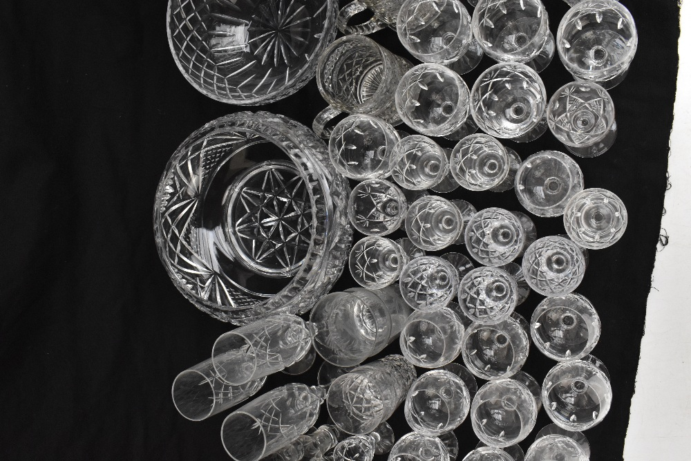 A collection of assorted cut and moulded glassware to include Royal Brierley.Additional - Image 3 of 5