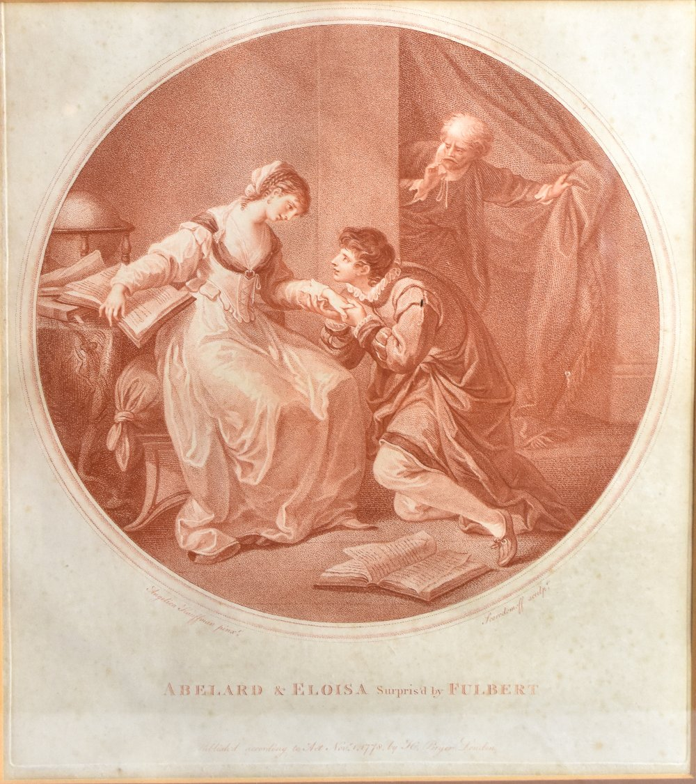 AFTER ANGELICA KAUFFMAN; four late 18th century sepia engravings comprising 'Abelard & Eloise', ' - Image 3 of 5