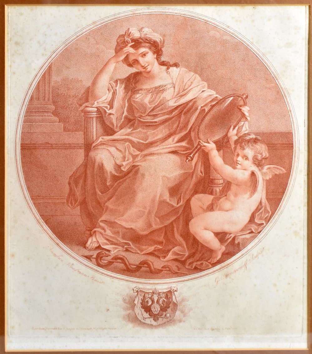 AFTER ANGELICA KAUFFMAN; four late 18th century sepia engravings comprising 'Abelard & Eloise', ' - Image 5 of 5