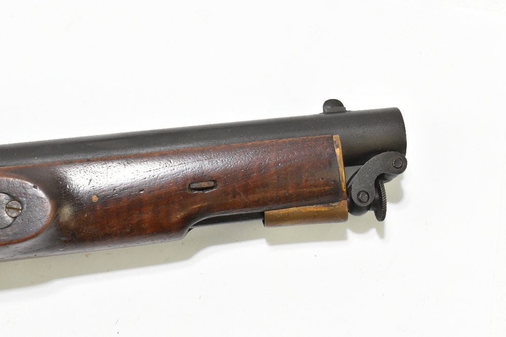 """A 19th century East India Government percussion cap large bore pistol with 8"""" barrel, the lock - Image 3 of 10"""