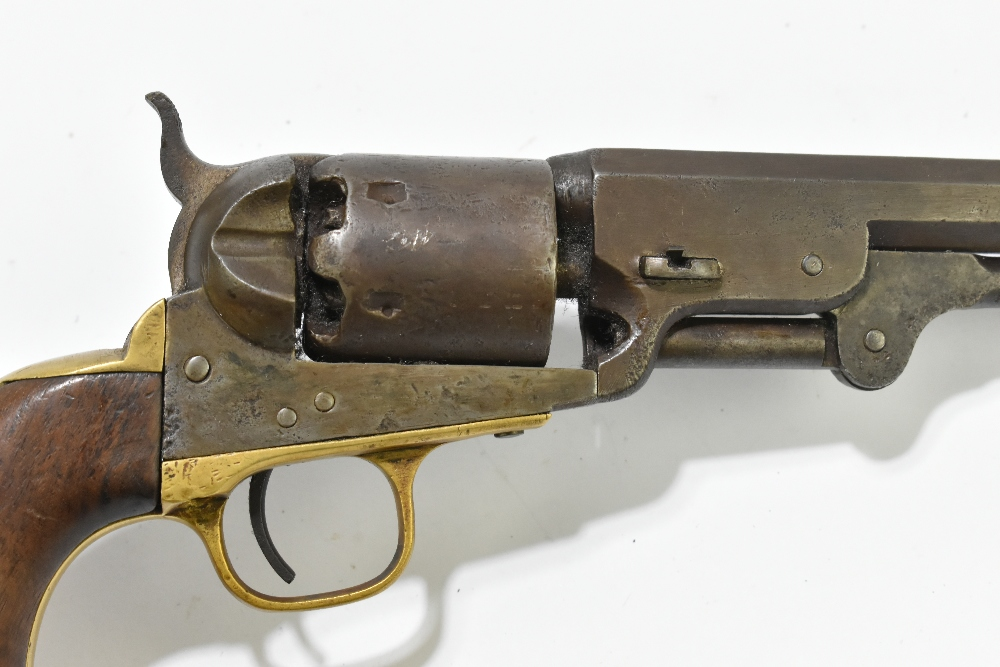 """COLT; a 19th century percussion cap .36 six shot revolver, the 7"""" octagonal barrel stamped with - Image 3 of 6"""