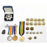 A WWI War and Victory duo awarded to 406060 Private A. Marshall Liverpool Regiment (replacement