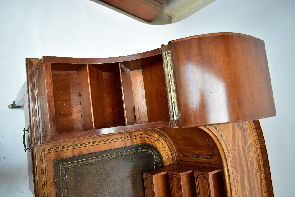MAPLE & CO; a c.1900 satinwood and inlaid Carlton House desk by Raphael Lalli, the raised back - Image 5 of 16