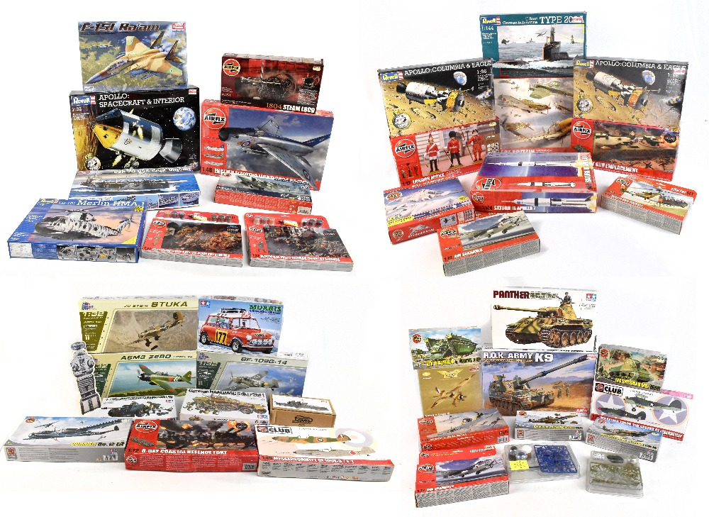 A group of predominately military themed kits with numerous Airfix examples including A09178 English