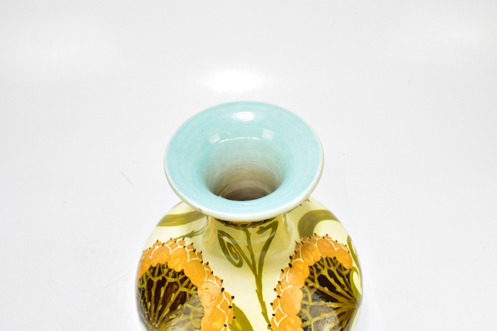CLARISSA AULT FOR AULT POTTERY; a late 19th century Arts & Crafts ceramic vase with stylised floral - Image 4 of 8