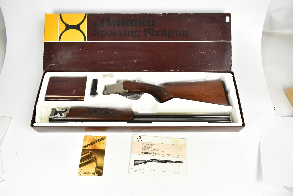 *****WITHDRAWN***** MIROKU; a boxed 7000 Sport Grade 1 over-and-under 12 bore shotgun with single - Image 16 of 16