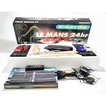 SCALEXTRIC; a boxed Le Mans 24 Hour set with the two Porsche cars and two further cars including a
