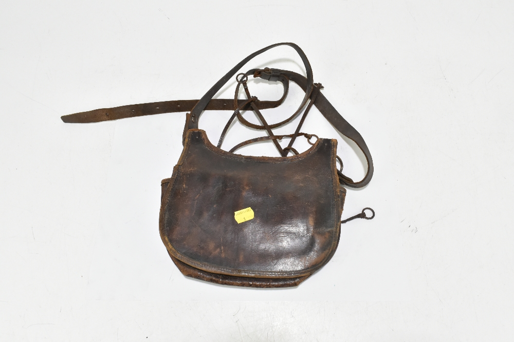 A leather cartridge pouch, approx 21 x 24cm. Provenance: The Captain Allan Marshall Collection. - Image 2 of 3