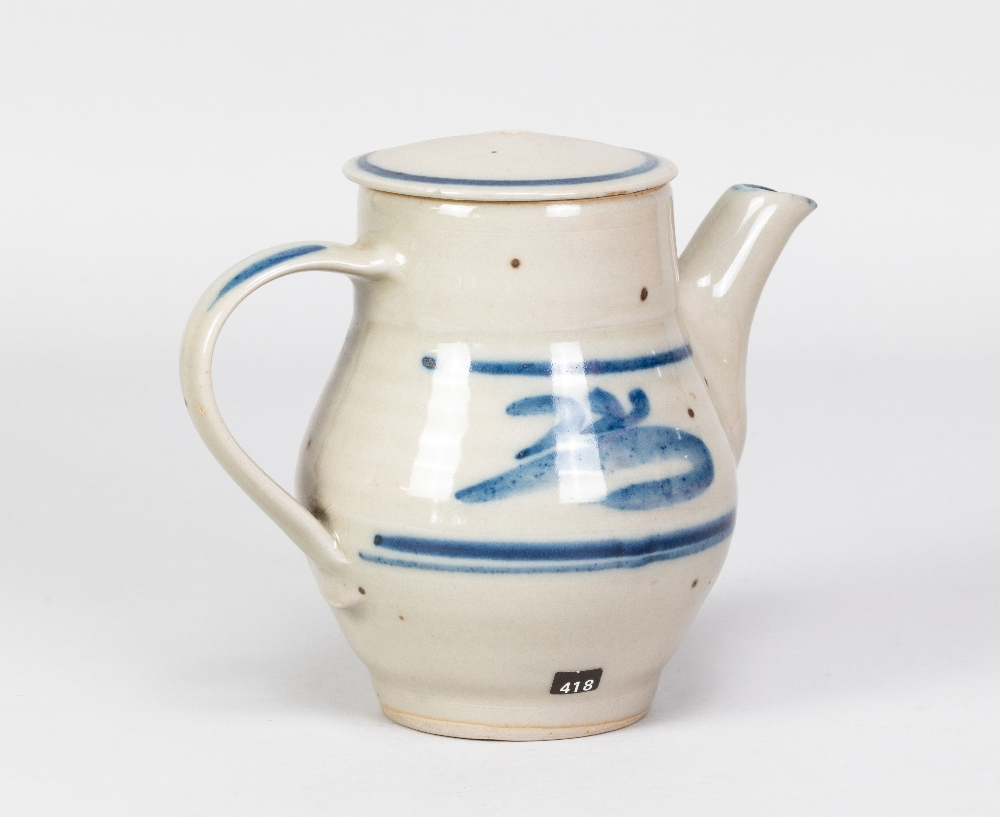 HARRY DAVIS (1910-1986) & MAY DAVIS (1914-1998) for Crowan Pottery; a stoneware coffee pot with - Image 2 of 9