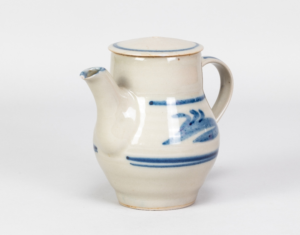 HARRY DAVIS (1910-1986) & MAY DAVIS (1914-1998) for Crowan Pottery; a stoneware coffee pot with