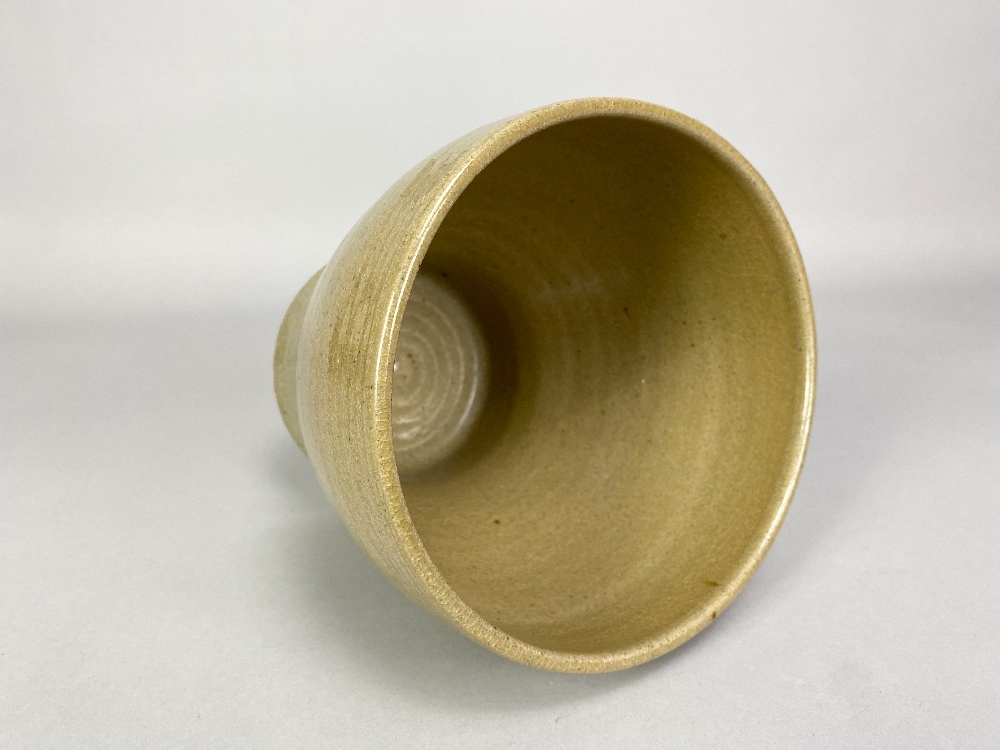 PAUL BARRON (1917-1983); a deep stoneware bowl covered in straw coloured glaze, impressed B mark, - Image 3 of 5