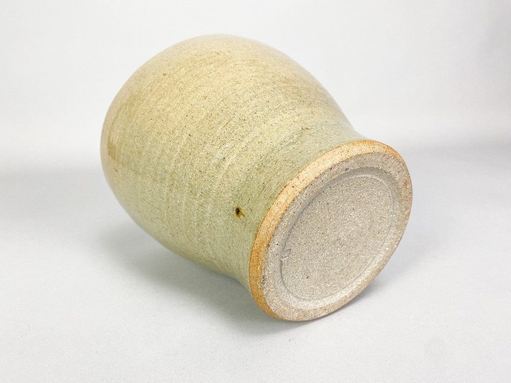 PAUL BARRON (1917-1983); a deep stoneware bowl covered in straw coloured glaze, impressed B mark, - Image 4 of 5
