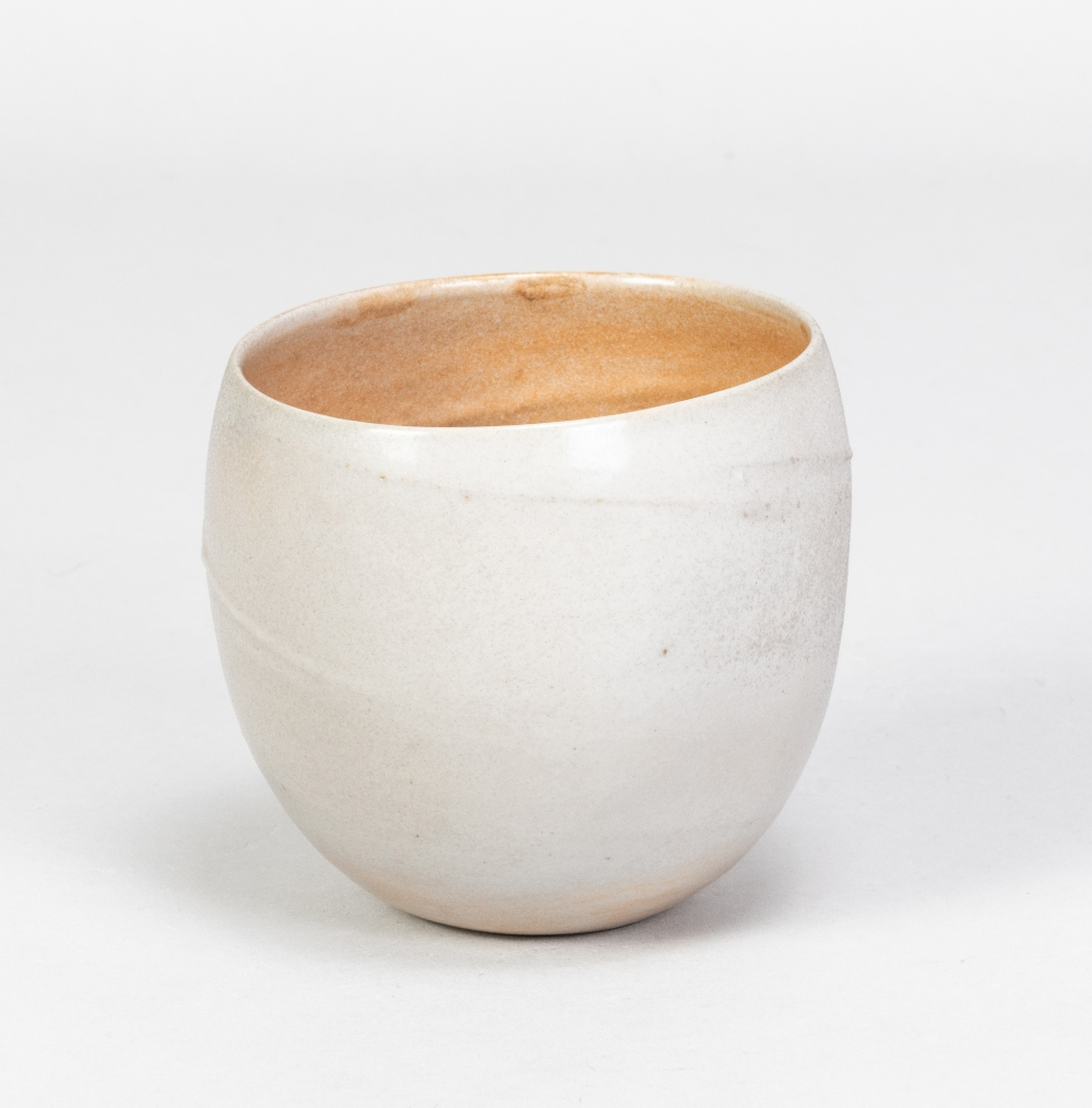 JOANNA CONSTANTINIDIS (1927-2000); a small porcelain vessel, part lustred with incised spiral - Image 2 of 5