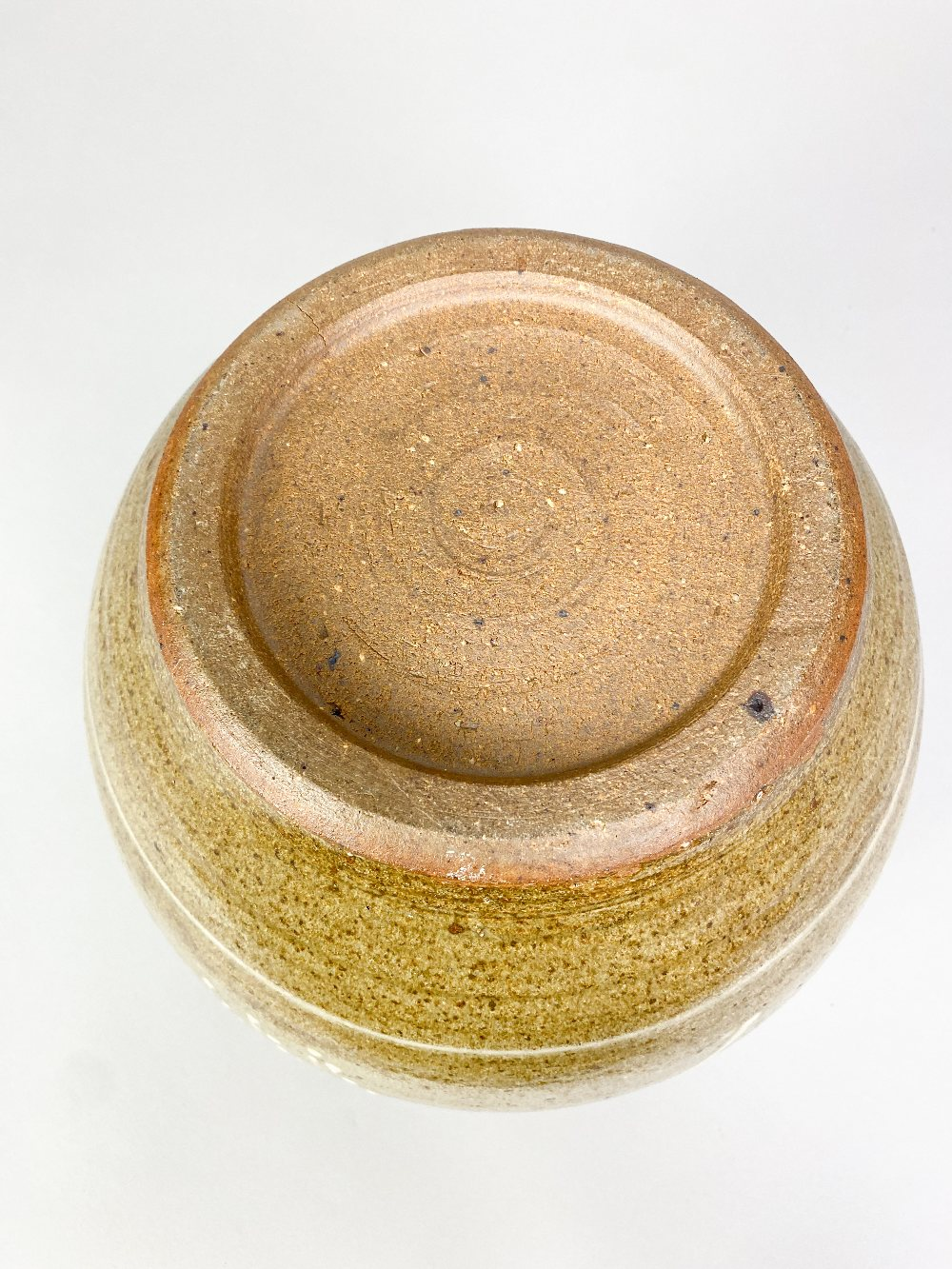 BERNARD LEACH (1887-1979) for Leach Pottery; a very large stoneware pot with floral decoration on - Image 4 of 6
