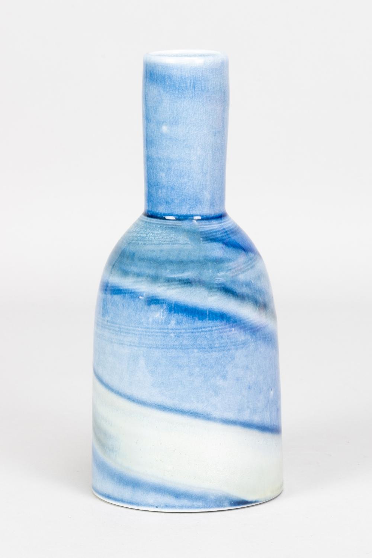 JANE HAMLYN (born 1940); a salt glazed bottle, impressed JH mark, height 21cm. (D) Additional