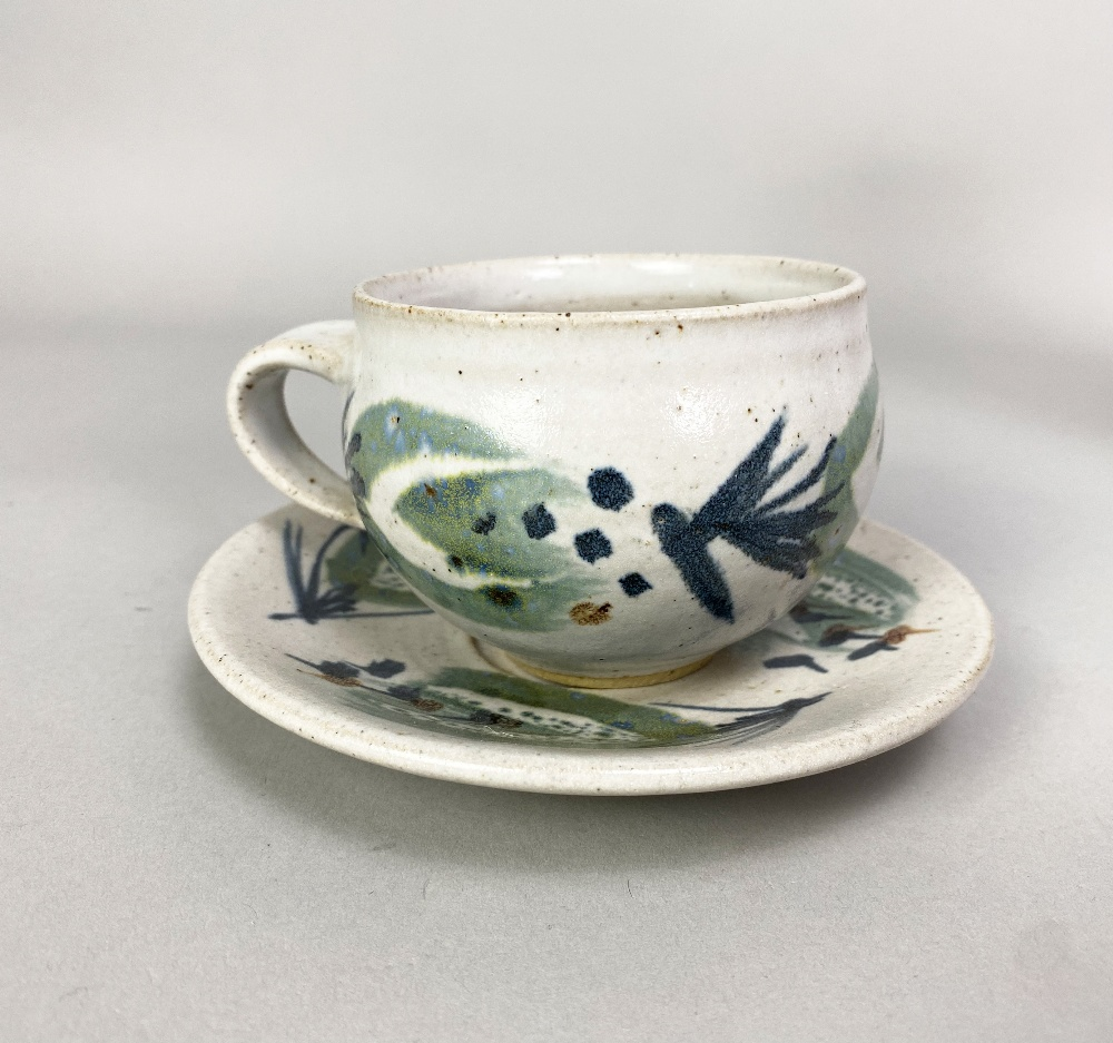 MARIANNE DE TREY (1913-2016); astoneware coffee set with 'Pattern 5' decoration comprising coffee - Image 2 of 6