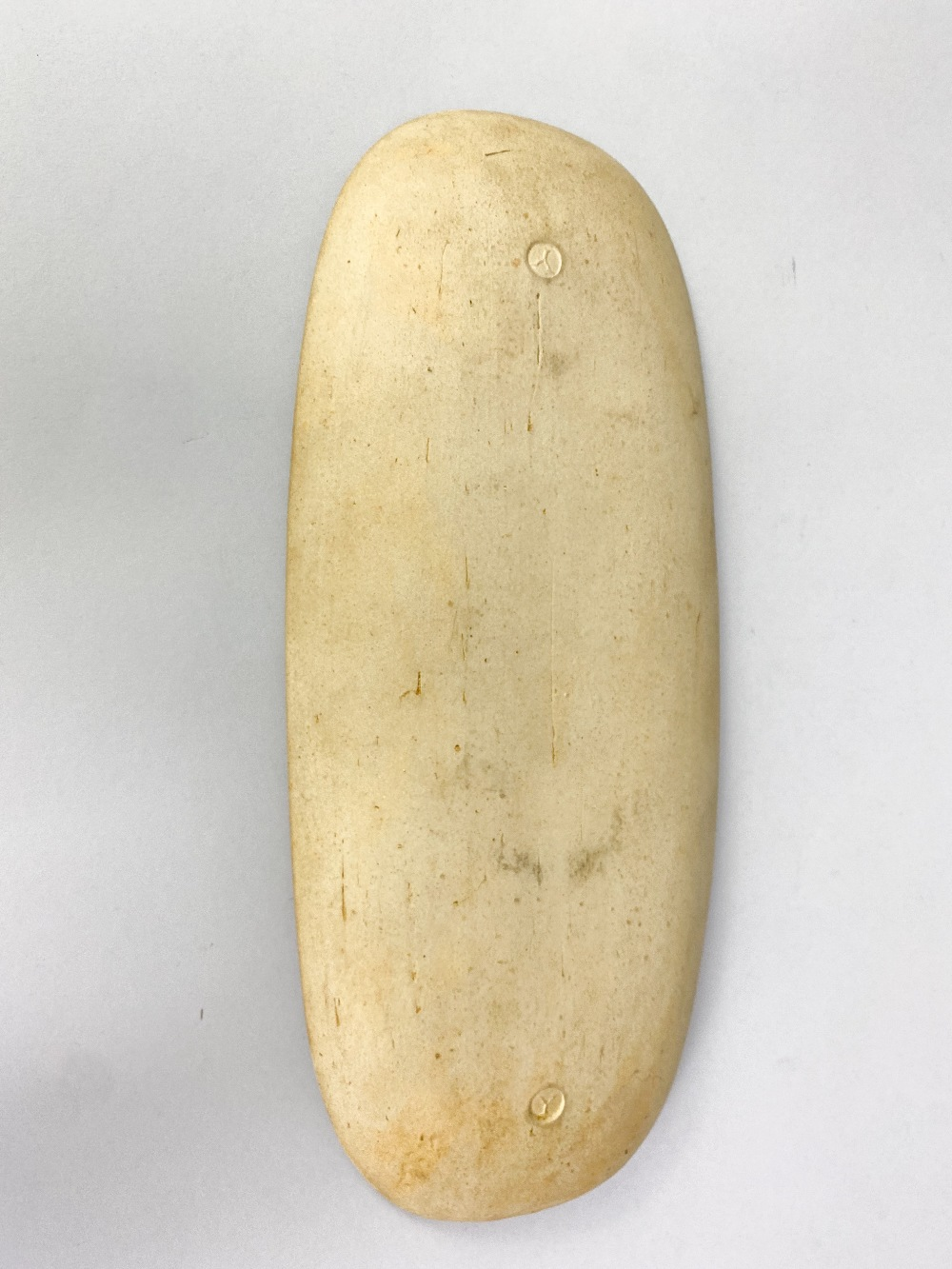 MICHAEL LEACH (1913-1985) for Yelland Pottery; a long stoneware dish with cobalt decoration on - Image 3 of 4
