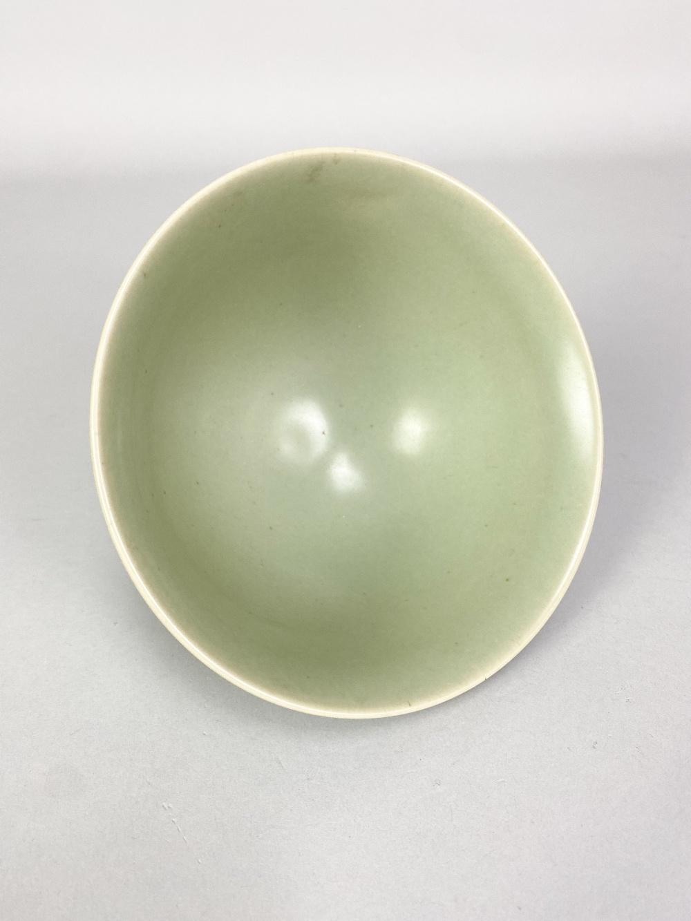 AGNETE HOY (1914-2000) for BullersStudio; a porcelain footed bowl covered in celadon glaze, - Image 3 of 5