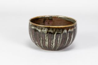 URSULA MOMMENS (1908-2010); a stoneware bowl withstriped decoration, impressed UD mark (partially