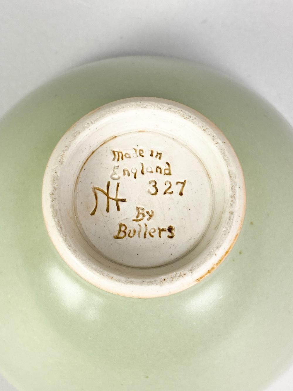 AGNETE HOY (1914-2000) for BullersStudio; a porcelain footed bowl covered in celadon glaze, - Image 5 of 5