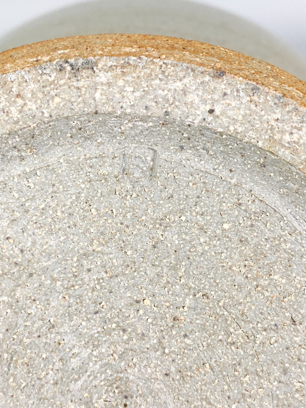 PAUL BARRON (1917-1983); a deep stoneware bowl covered in straw coloured glaze, impressed B mark, - Image 5 of 5