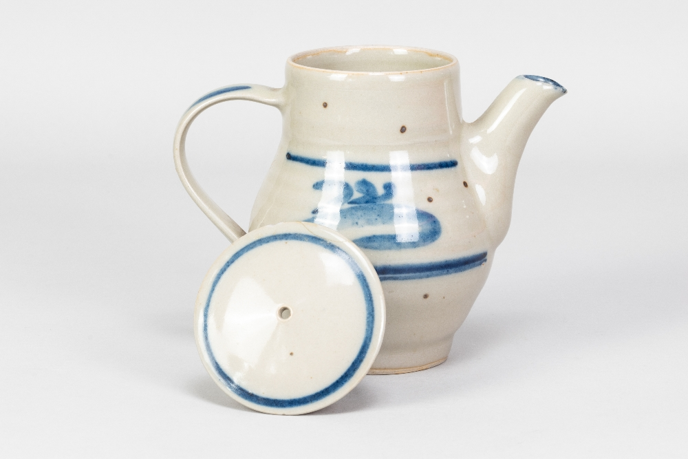 HARRY DAVIS (1910-1986) & MAY DAVIS (1914-1998) for Crowan Pottery; a stoneware coffee pot with - Image 3 of 9