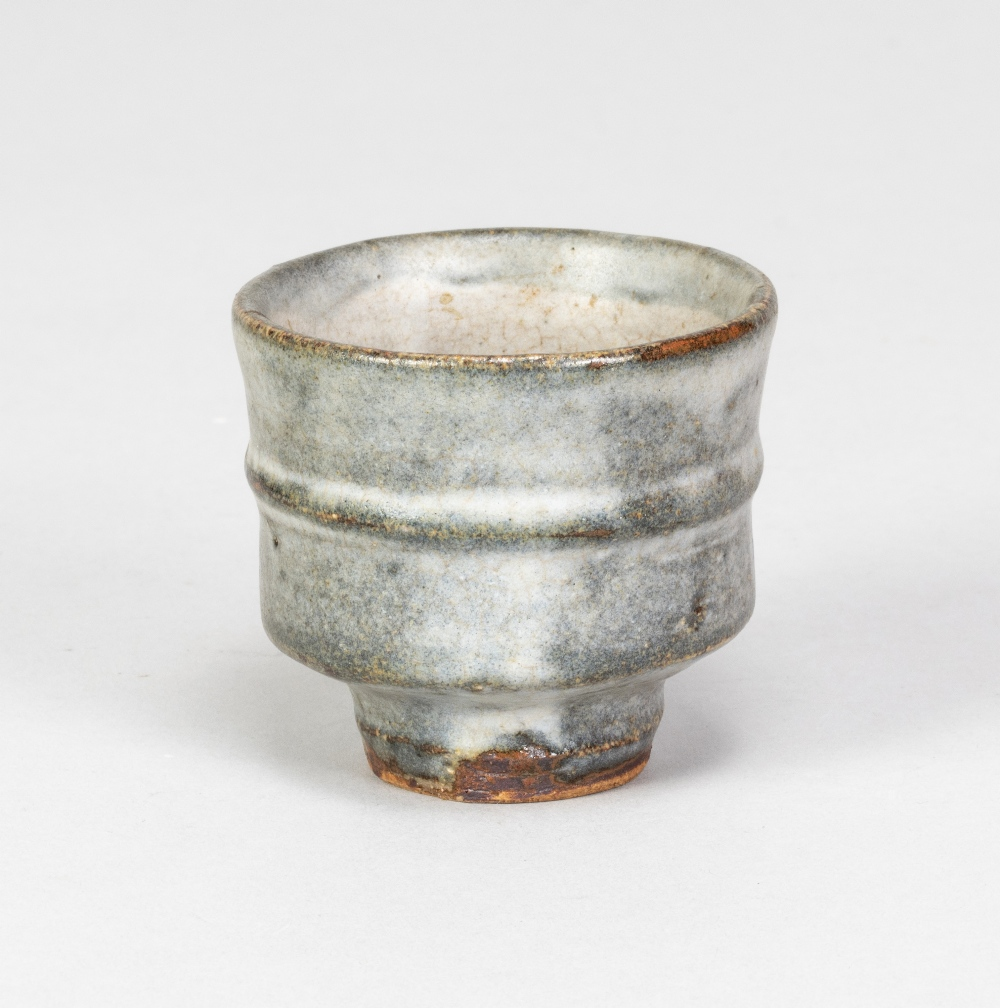 WILLIAM MARSHALL (1923-2007); a stoneware guinomi covered in grey glaze, impressed WM mark, height - Image 2 of 5