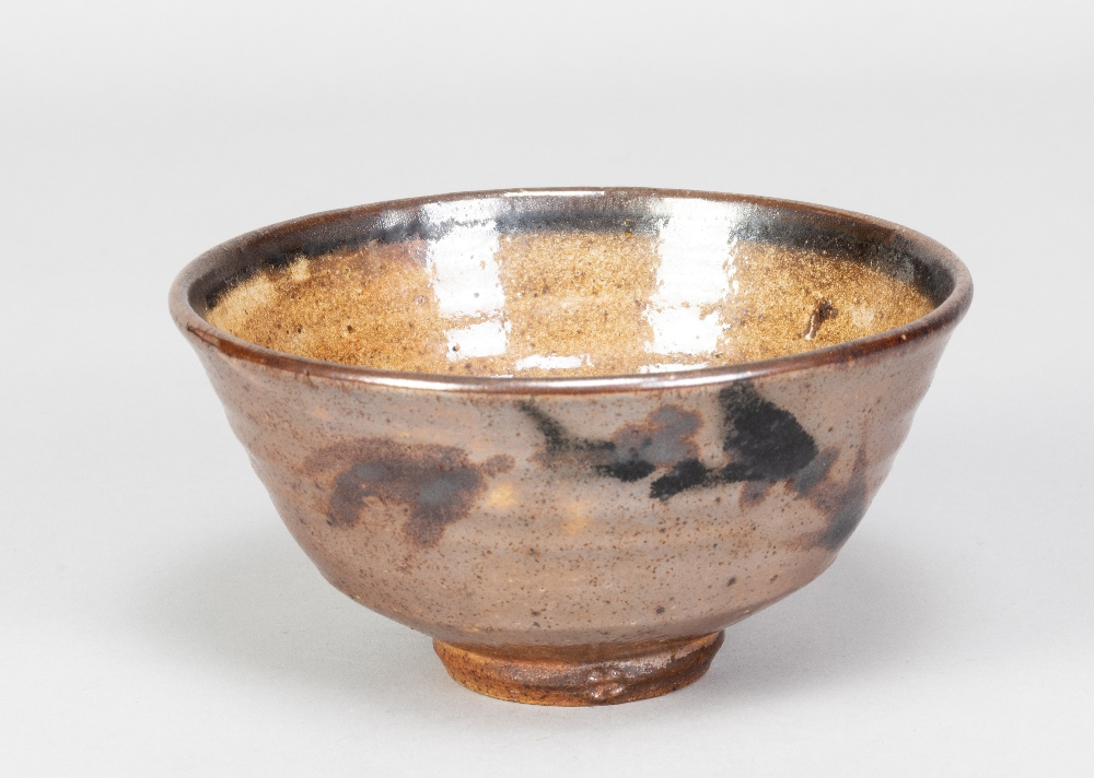 GEOFFREY WHITING (1919-1988) for St Augustine's Pottery; a stoneware chawan with iron decoration - Image 2 of 5