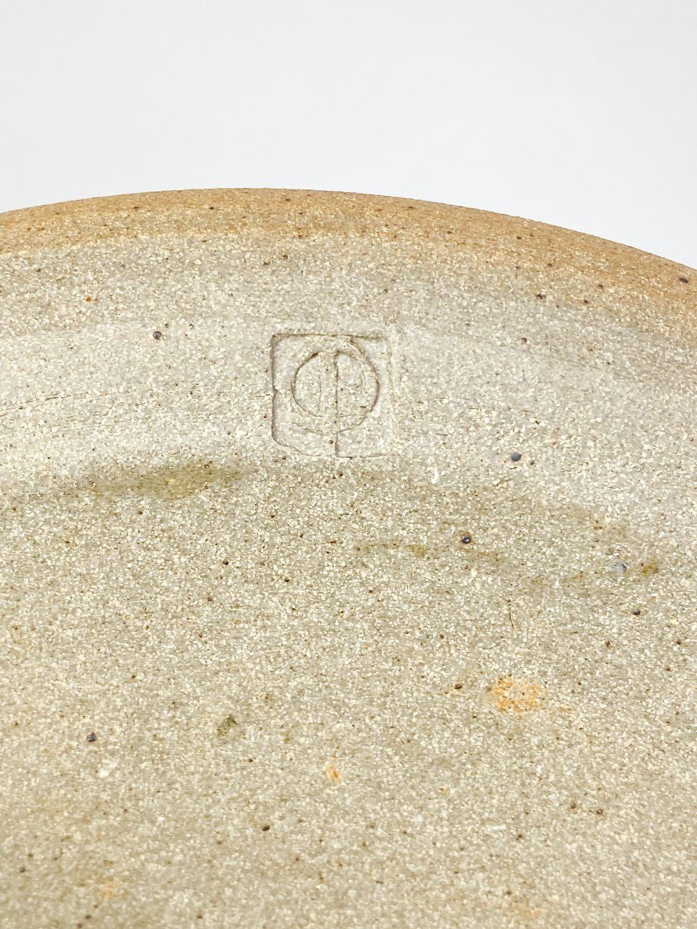 COLIN PEARSON (1923-2007); a stoneware coffee pot with shino topand a stoneware dish, impressed - Image 5 of 7