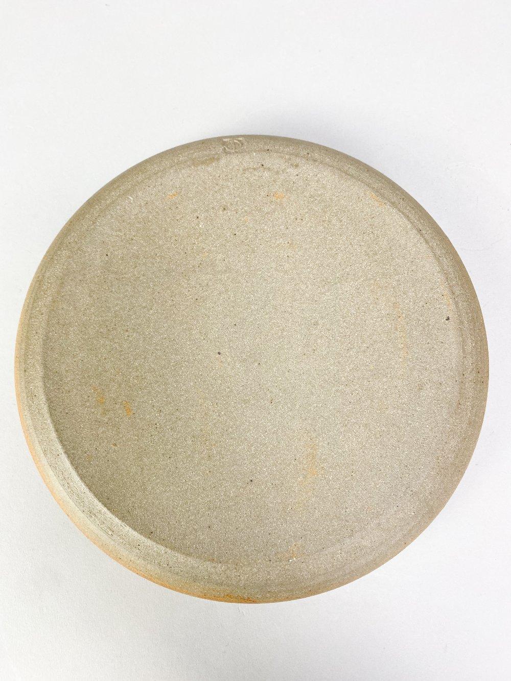 COLIN PEARSON (1923-2007); a stoneware coffee pot with shino topand a stoneware dish, impressed - Image 4 of 7