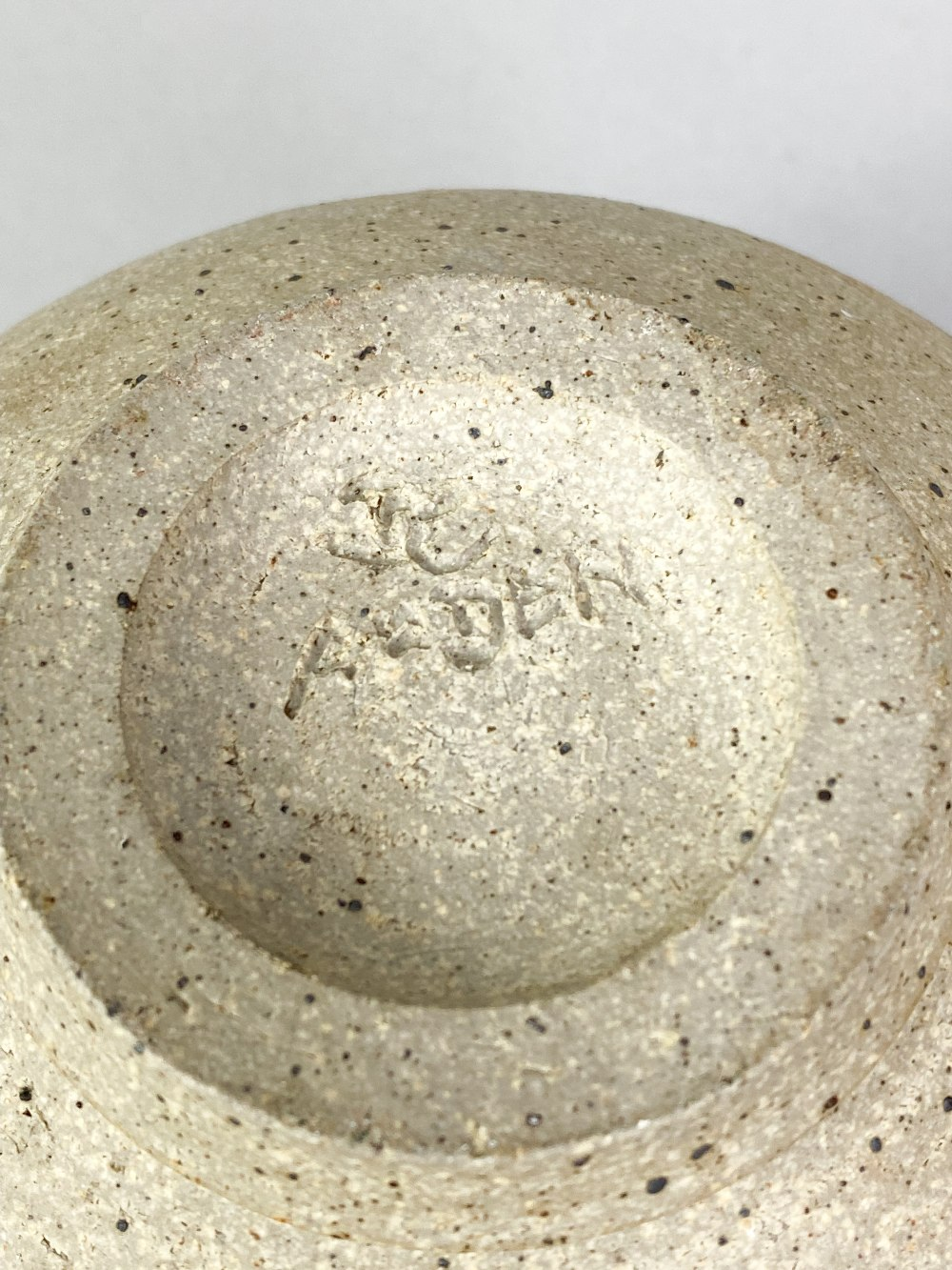 BARBARA CASS (1921-1992); a stoneware bowl with manganese rim and iron decoration, incised BC - Image 5 of 5
