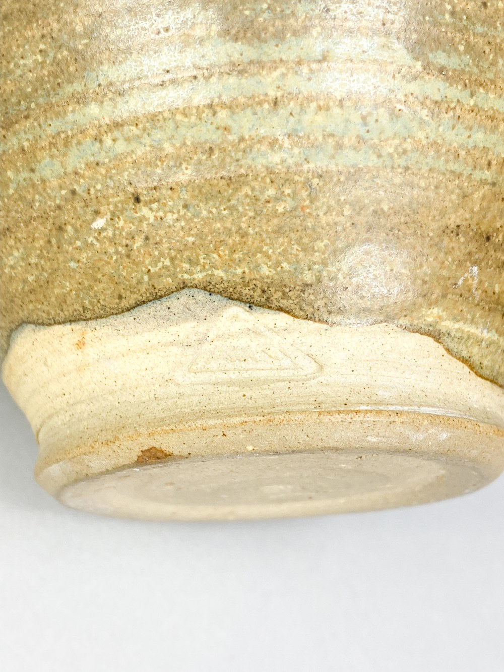 MARGARET REY (1911-2010); a stoneware vase with simple iron decoration on mottled brown and sage - Image 5 of 5