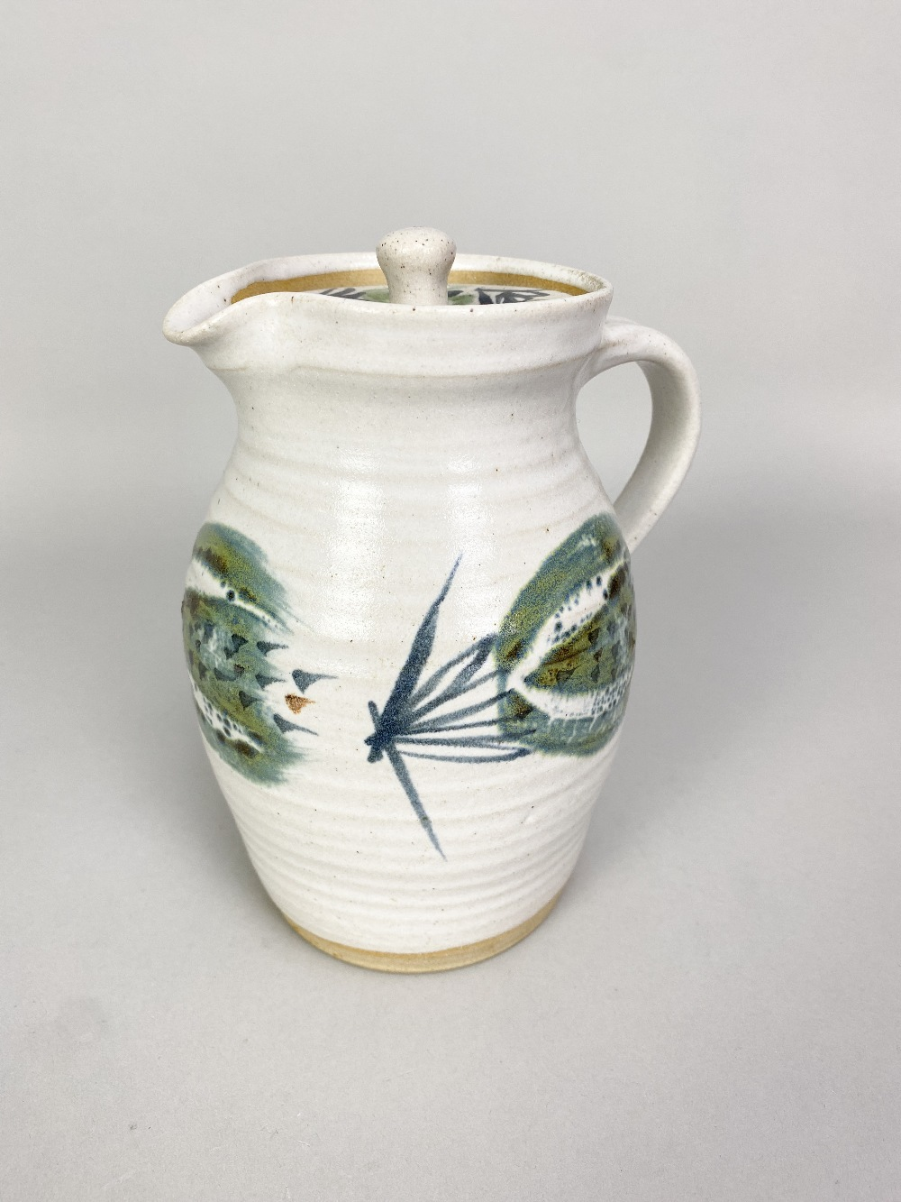 MARIANNE DE TREY (1913-2016); astoneware coffee set with 'Pattern 5' decoration comprising coffee - Image 5 of 6