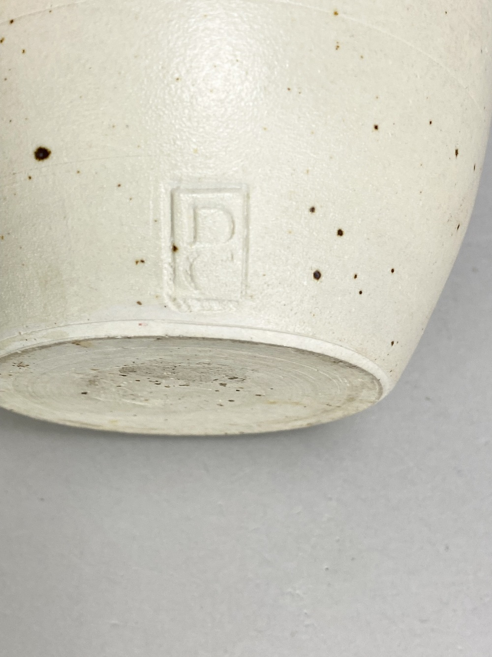 DELAN COOKSON (born 1937); a stoneware vase with mottled iron top and pink blush, impressed DC mark, - Image 5 of 5