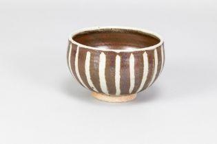 URSULA MOMMENS (1908-2010); astoneware bowl withstriped decoration, impressed UD mark, diameter