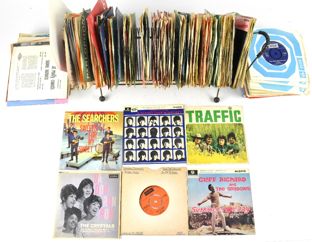 Approximately 150 vinyl singles, mostly Parlophone and Decca paper labels, with some later examples,