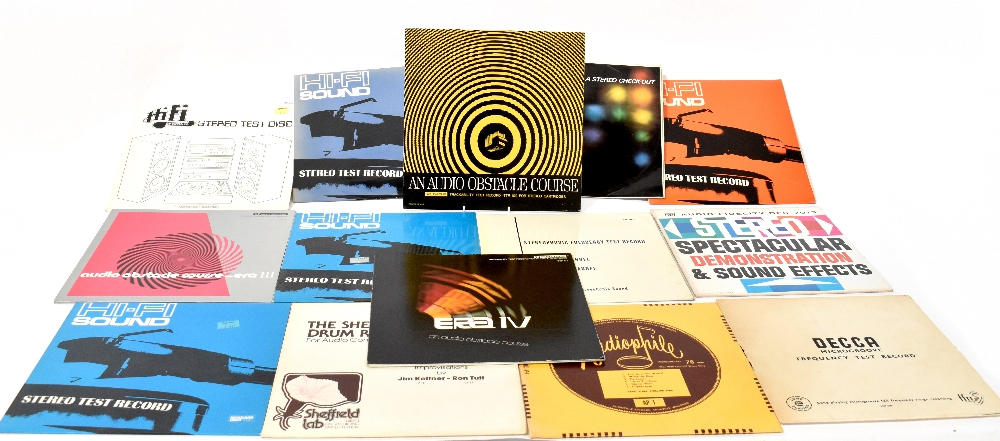Thirteen Stereo test related records to include 'Audio Obstacle Course',