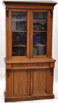 A 19th century mahogany break-front chiffonier bookcase,
