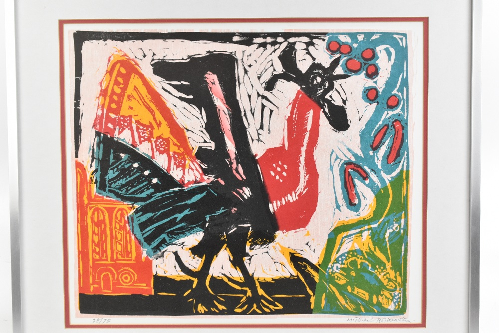 MICHAEL ROTHENSTEIN (1908-1993); limited edition signed coloured print, 'Cockerel', 28/75, 42 x - Image 2 of 5