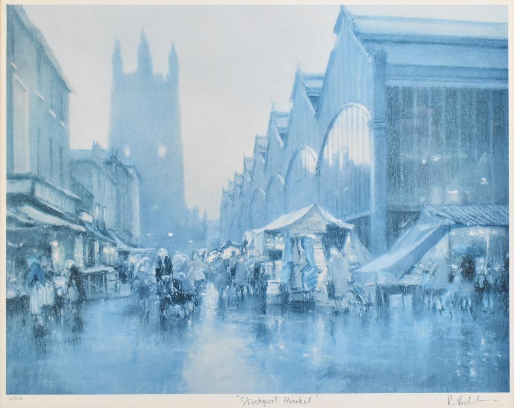 ROBERT 'BOB' RICHARDSON (born 1938); two signed limited edition coloured prints 'Stockport - Image 4 of 5