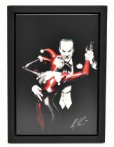 ALEX ROSS; signed limited edition print on canvas, 'Tango with Evil', DC Comic, 120/195, 82 x 53.