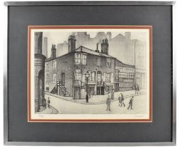 LAURENCE STEPHEN LOWRY RBA RA (1887-1976); limited edition signed print, 'Great Ancoats Street,