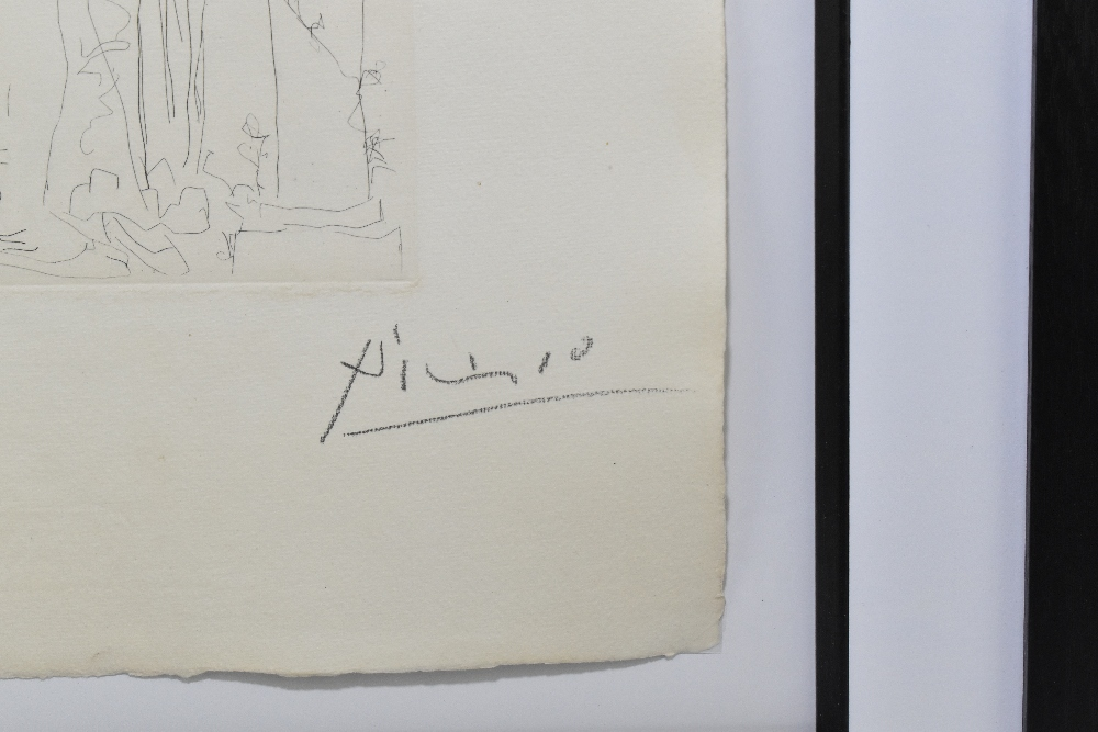 """***WITHDRAWN*** PABLO PICASSO; """"Trois Acteurs"""", signed lower right, 45cm x 34cm, framed and glazed - Image 3 of 5"""