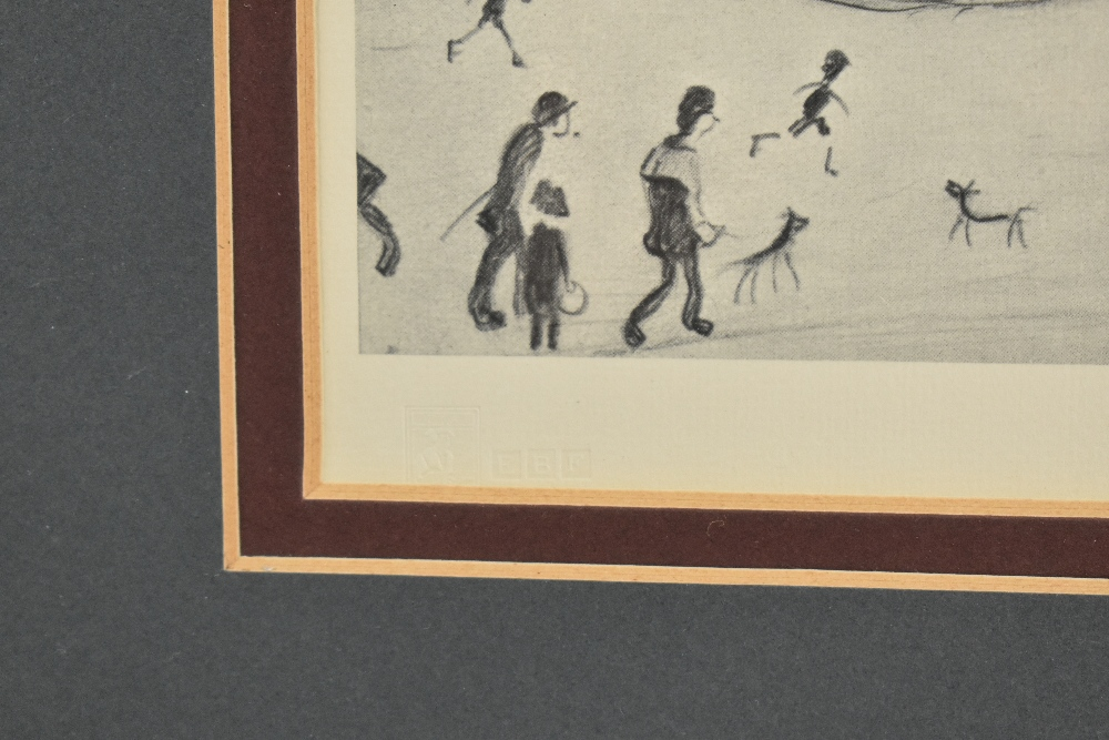 LAURENCE STEPHEN LOWRY RBA RA (1887-1976); limited edition signed print, 'The Reference Library', - Image 5 of 5