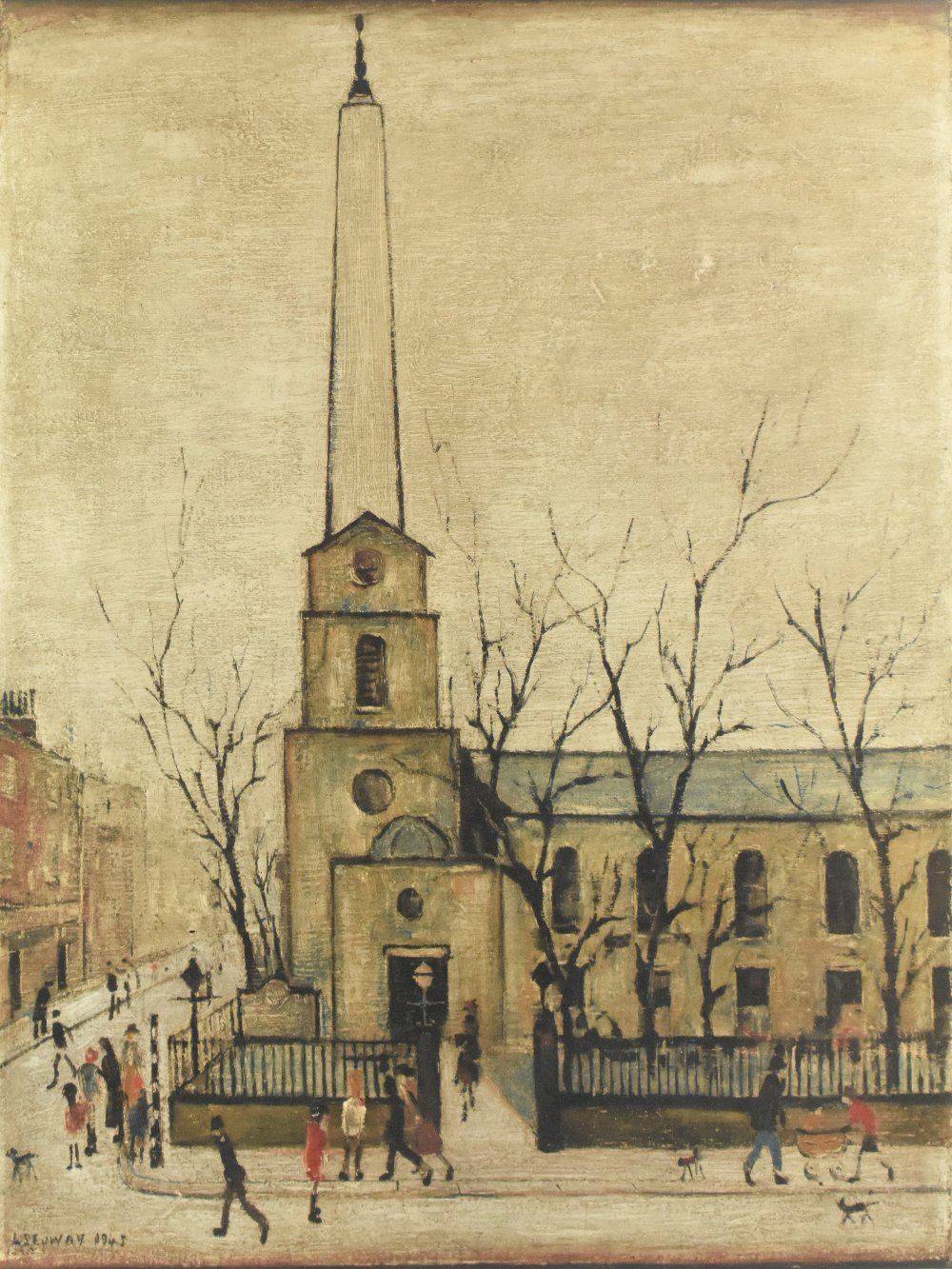 LAURENCE STEPHEN LOWRY RBA RA (1887-1976); pencil signed limited edition lithograph print, 'St - Image 2 of 5
