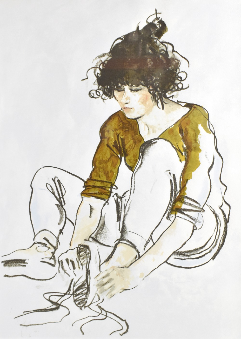 DONALD HAMILTON FRASER (Scottish, 1929-2009); pencil signed limited edition print, 'Italian Dancer', - Image 2 of 4